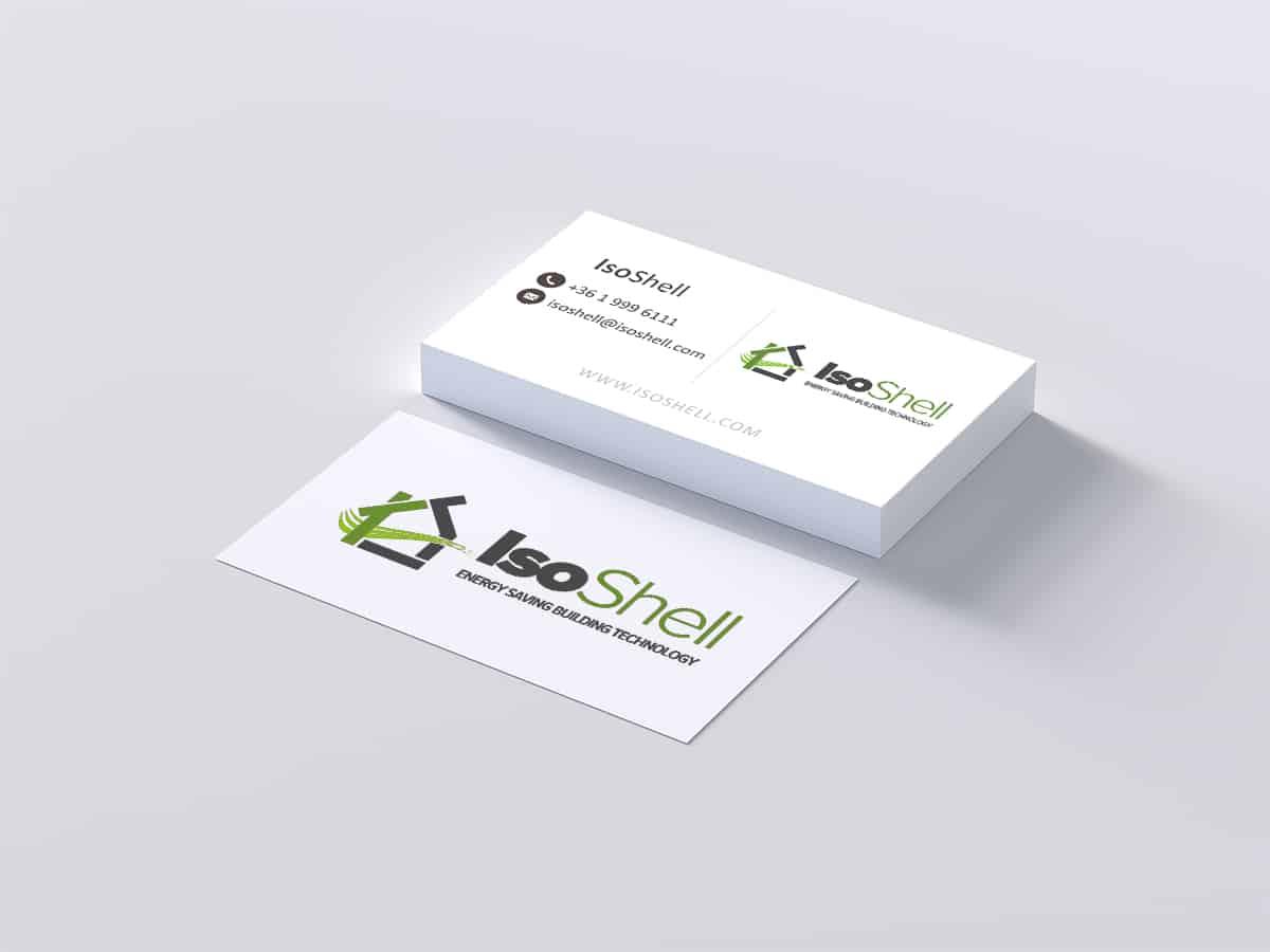 Építőelem cégkártya