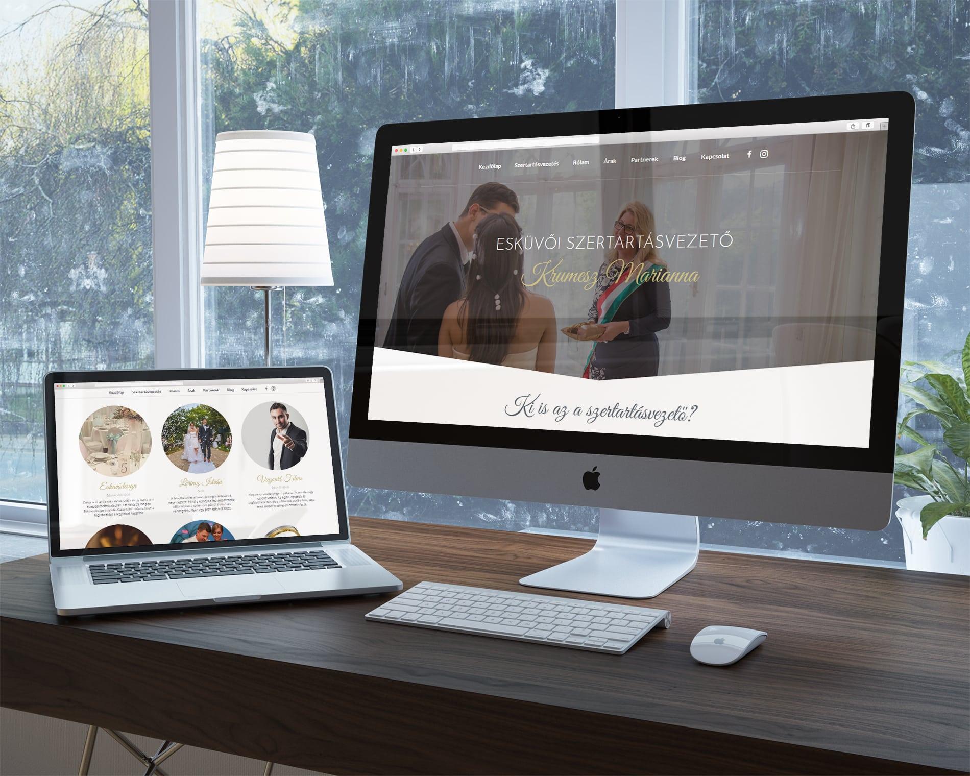 Esküvői szertartásod weboldal