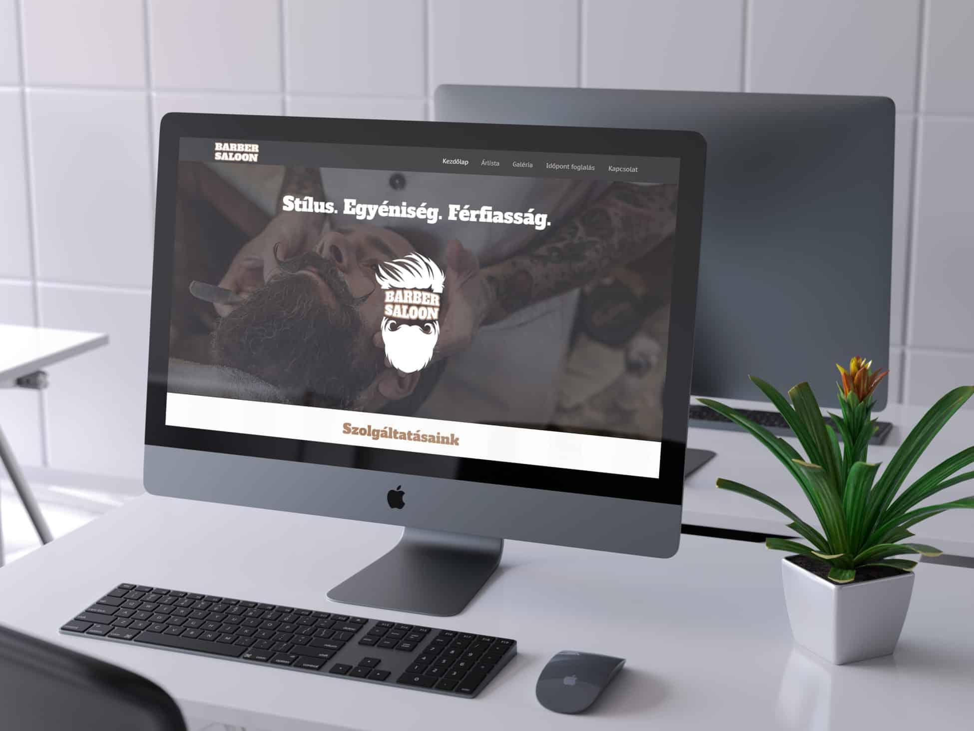 Barber Saloon weboldal