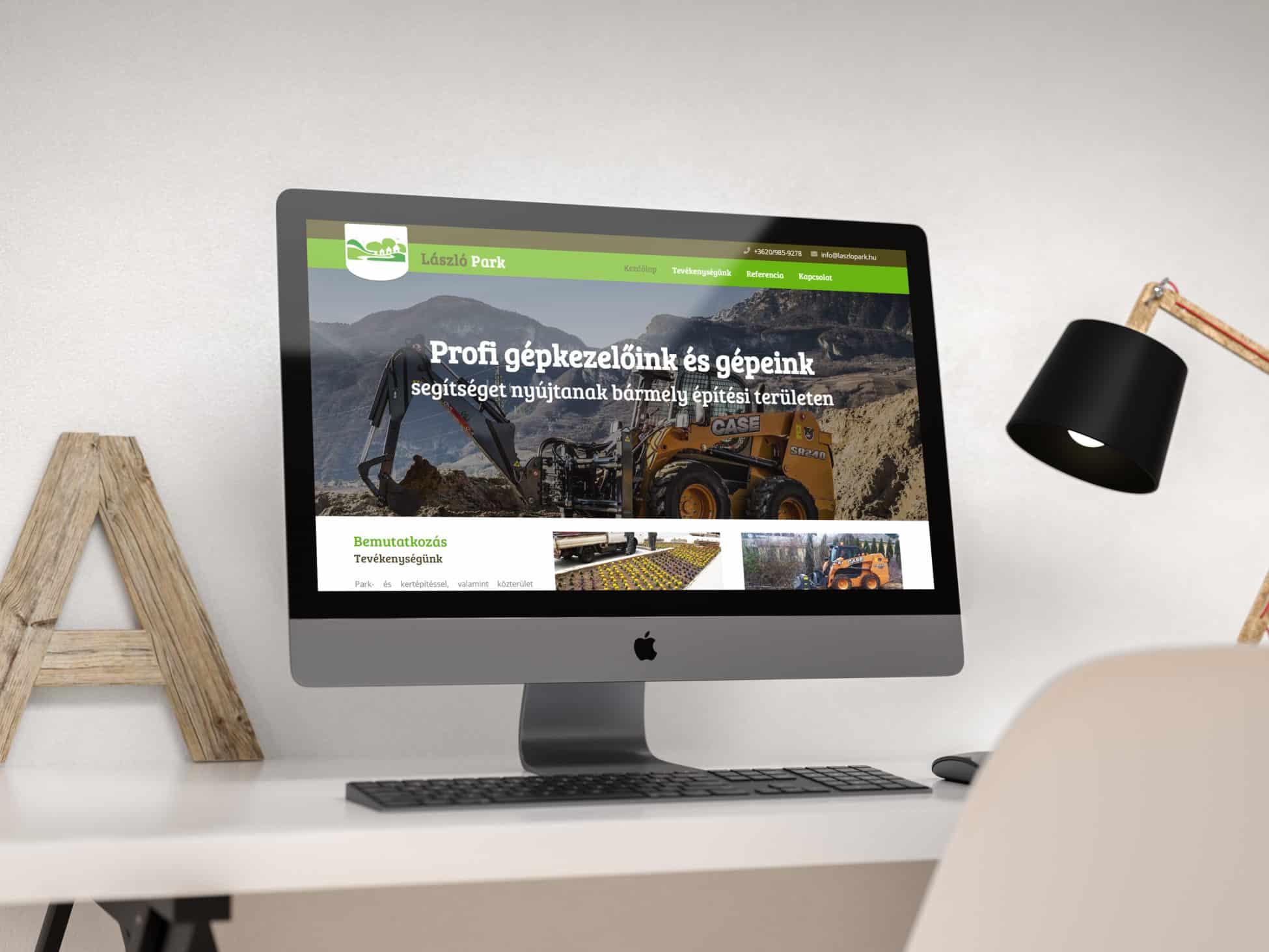 László Park weboldal