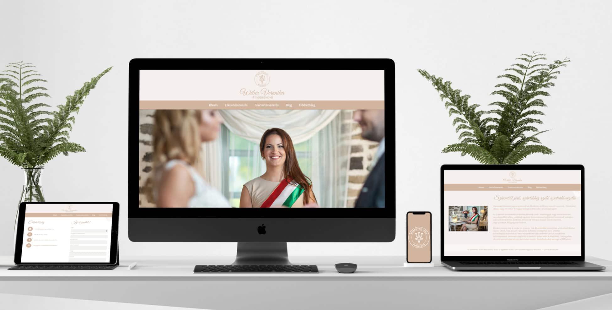 Wéber Veronika szertartásvezető weboldal